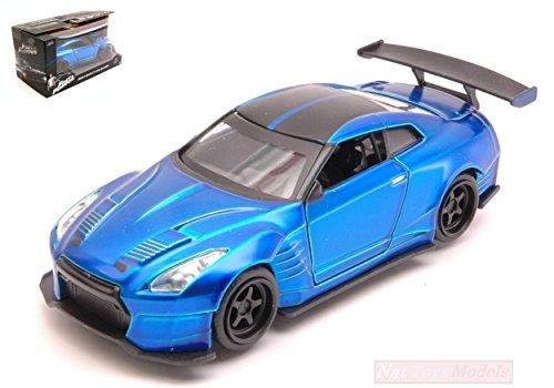 Jada Toys JADA98270 Brian's Nissan GT-R Ben SOPRA Fast & Furious Metal Blue 1:32 kompatibel mit