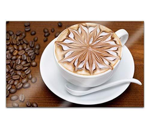 Acrylglasbilder 80x50cm Kaffee Tasse Cafe Bohnen Kaffeebohnen Küche Acryl Bilder Acrylbild Acrylglas Wand Bild 14H327