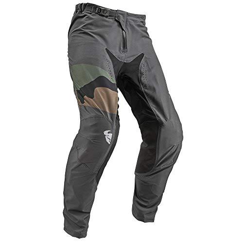 Thor Prime pro Fighter - Pantalones de motocross de camuflaje carbón - multicolor, 34 US (50 EU)