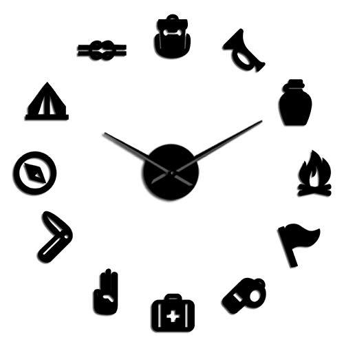 Camping Scout DIY Riesen Wanduhr Junior School Scout Kaminofen Exklusive Wanduhr Great Time Clock