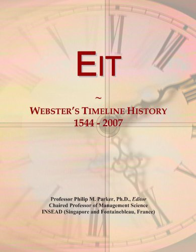 Eit: Webster's Timeline History, 1544 - 2007