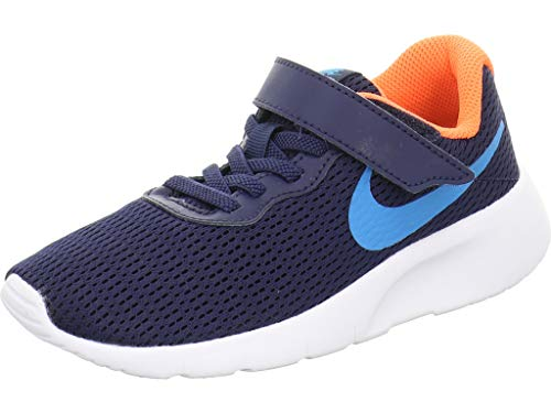 Nike Tanjun (PSV), Scarpe da Corsa, Midnight Navy/Laser Blue/Hyper Crimson, 31.5 EU