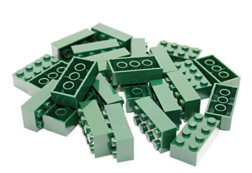 LEGO® Bricks: 25 x Dark Green 2x4 Pin Part 3001 Dimensions (LxWxH): 1.6cm x 3.2cm x 1.1cm # Free UK Tracked Postage # Taken from Sets and Supplied by Bricks and Baseplates® Sent in a Sealed Clear Bag