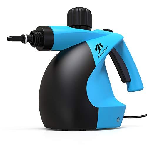 MLMLANT Mehrzweck Dampfreiniger 350 ml - 11 Zubehör zum Entfernen von Flecken mit Teppich Boden Fliesen Bad Autositze Polster