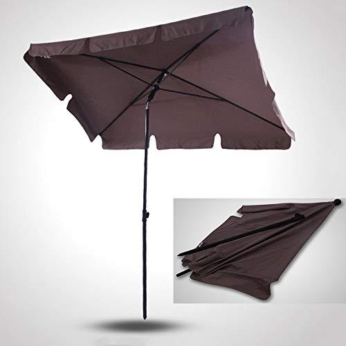 Parasol Gartenschirm mit Kurbel und Kippvorrichtung, 2 m pulverbeschichtetem Stahlschirm, UV-Schutz und Regenschutz