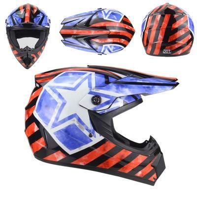 Personity Four Seasons Motocross helm - heren en dames helm - mountainbike helm - downhill pirate - wit/zwart/geel/rood