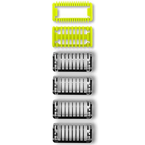 Peines-Guía para OneBlade&OneBlade Pro, QP2530, QP2630, QP6620, QP6520, 4 barba Peines,1 para Cuerpo y 1 para Cara Peine