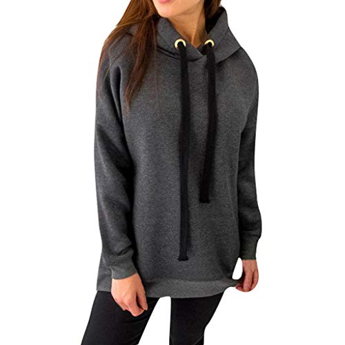 Big Save! Jushye Hooded Tops,Women Solid Long Sleeve Hoodies Pullover Ladies Sweatshirts Zipper Shir...