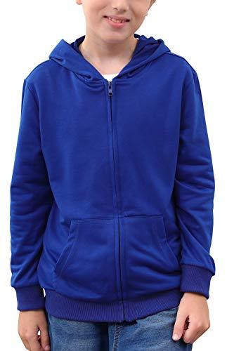 NAVINS - Sudadera con capucha para niños de 4 a 14 años, Azul, 10 años