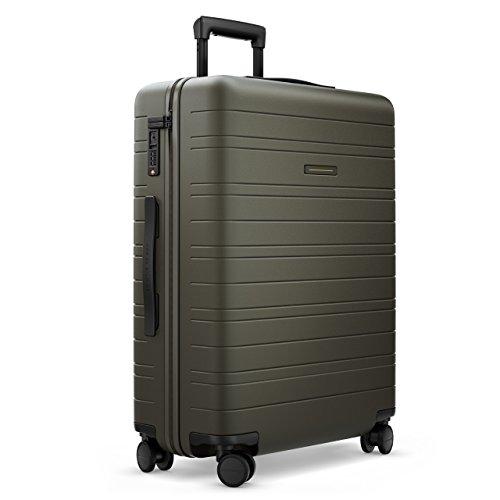 HORIZN STUDIOS H6 Check-In Reisekoffer (65 L) mit integrierter, herausnehmbarer Powerbank und eingebautem Raumtrenner zur Komprimierung. Für Reisen 7-10 Tage. (Dark Olive)