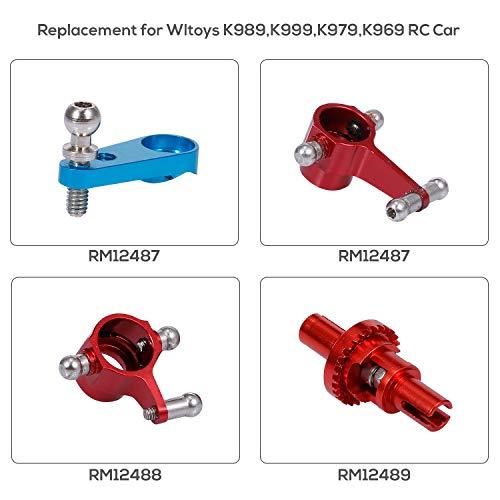 Goolsky Ersatz Kompatibel mit Wltoys K989 A999 A979 L969 RC Auto Servo Arm Hörner Lenkarm Aluminiumlegierung Upgrade Teile