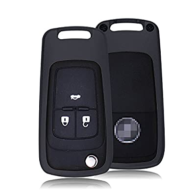 [MissBlue] Aircraft Aluminum Key Fob Cover For Buick Remote Key, Cool Protector Case Skin Fits Buick Folding Flip Car Key, Unisex Leather Key Fob Keychain for Men Key Fob Holder for Women