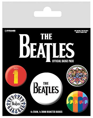 The Beatles BP80475 Abzeichen, Mehrfarbig, 10 x 12.5 cm