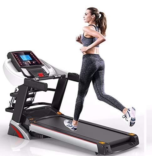 JJGS Professionele loopband, loopband compact, high-end treadmill, vouwelektrische tafelband, videoevenementen + multiplayer-app, 3,25 pk stille motor, 16 km/u + 15% helling, oplaadbaar 150 kg