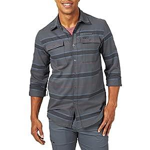 Wrangler Men's Long Sleeve Eco Utility Flannel Shirt
