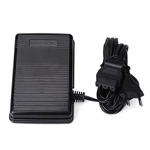 Fußpedal, Fußpedal Controller für Singer,Elektronische Fußsteuerung mit Kabel, Universal Home Nähmaschine Fußschalter Pedal Variable Speed Controller, für die meisten Nähmaschinen,220-240V(1)