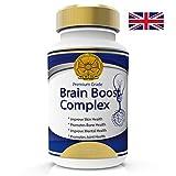 Brain Boost Nootrópicos Fuerza Maxima Complejo De Vitaminas Para Memoria Foco Concentración. Mejoramiento de la Función Cognitiva y Neuro Nutrición - 60 Cápsulas 2 Meses. 100% Garantía de Devolución