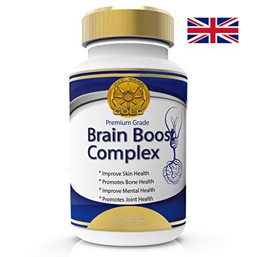 Prime Nootropics Brain Boost Max Force Complexe de vitamines pour mémoire concentration, l'amélioration fonction cognitif et Neuro Nutrition. 60 capsules 2 mois fourniture sans risque Garantie