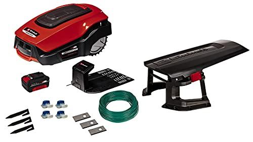 Einhell Mähroboter FREELEXO+ LCD Kit 900 Power X-Change (Li-Ion, 18 V, Bluetooth App-Steuerung, für Steigungen bis 35%, inkl. 3 Ah Akku, Installations Kit und Garage)