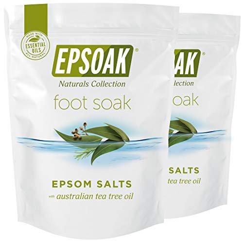 Tea Tree Oil Foot Soak with Epsoak Epsom Salt - 4 lbs. (Qty. 2 x 2 lb. Bags) Fight Bacteria, Nail Fungus, Athlete's Foot, and Unpleasant Foot Odor