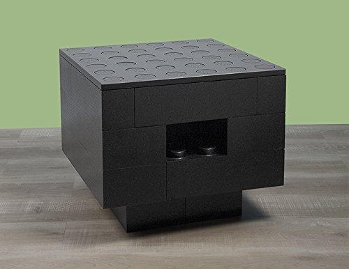 BAM - Table basse noire modulable avec rangements 57x57x48cm