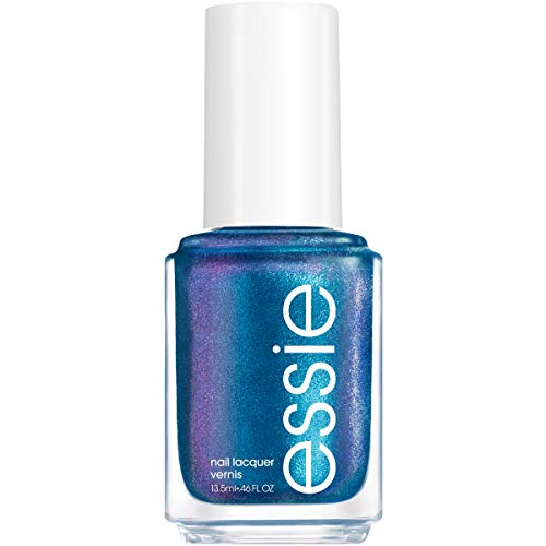essie Nail Polish, Limited Edition Let It Ripple Collection, Vibrant Blue Nail Color With A Shimmer Effect, get on board, 0.46 Fl Ounce