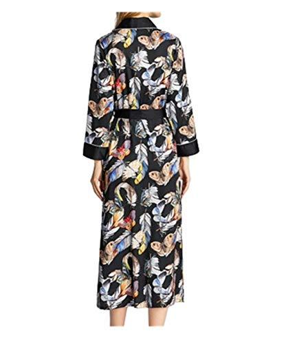 Bedgown Vrouwelijke Zijde Zachte Lente Zomer Herfst Dunne Sectie Nachtjurk Badjas Pyjama/Nachtjapon Pak Prachtig Uiterlijk M A
