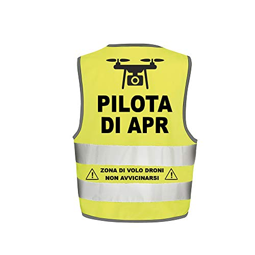 Fashion Graphic Gilet Pilota di Apr Drone Mod2 Alta visibilità...