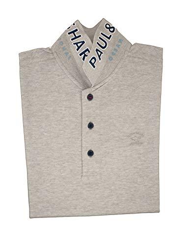 PAUL & SHARK Polo, Casual, Slim Fit, Baumwolle, Grau Medium