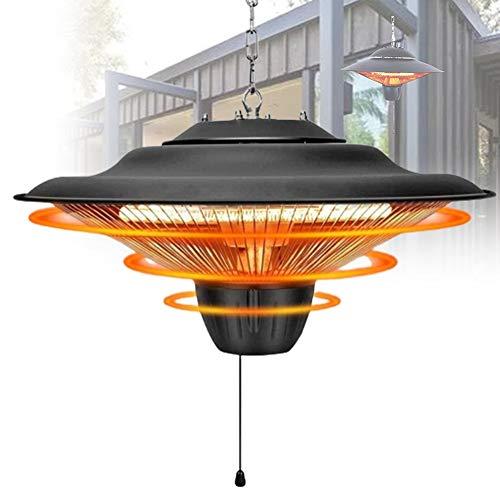 ZPCSAWA Calentador Eléctrico para Patio, Tubo Halógeno para Jardín Al Aire Libre Calentador Eléctrico para Patio Montado En El Techo, Alta Eficiencia Y Ahorro De Energía, Potencia Ajustable Adecuado