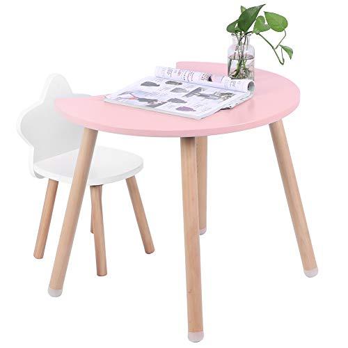 Cocoarm Kindersitzgruppe Kindertisch mit Stühlen Kinder Tisch und Kinderstühle Multifunktionale MDF Tisch Schreibtisch Stuhl Set für Home Schlafzimmer Wohnzimmer Dekoration(Pink)
