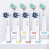 ブラウン オーラルB 対応 電動歯ブラシ 替えブラシ 柔らかい替え歯ブラシ 最新型 歯垢除去 家庭用互換ブラシ マルチアクションブラシ ベーシックブラシ2種類8本入り