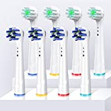 <span class='highlight'>Replacement</span> <span class='highlight'>Toothbrush</span> Heads for Oral B Braun, 8 <span class='highlight'>Pack</span> <span class='highlight'>Precision</span> <span class='highlight'>Clean</span> Electric <span class='highlight'>Toothbrush</span> Heads, <span class='highlight'>Replacement</span> Heads Compatible with Oral-B Pro1000/3000/9600/ 5000/7000