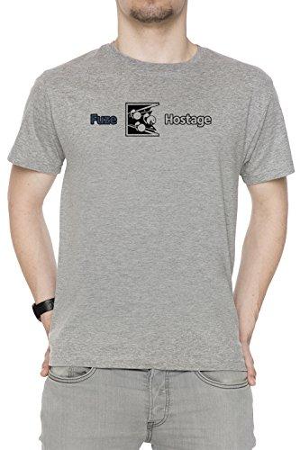 Dont Fuze The Hostage! Uomo Girocollo T-Shirt Grigio Maniche Corte Dimensioni XXL Men's Grey XX-Large Size XXL