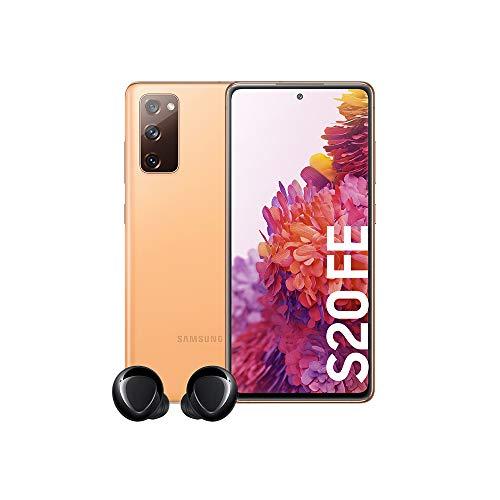 Samsung Galaxy S20 FE Color Naranja + Samsung Galaxy Buds+ Auriculares Inalámbricos (con Micrófono, Bluetooth, Ambient Sound, Tecnología AKG) Color Negro