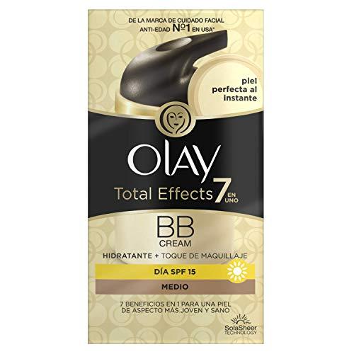 Olay Total Effects 7 en 1 BB Cream Anti-Edad Tono Medio SPF15, Blanco - 50 ml