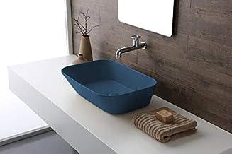 Mees - Opbouw Waskom Rechthoek 60x42x16.5 cm - Mat Blauw