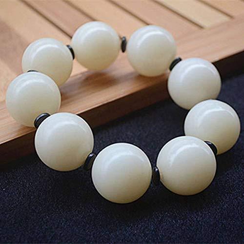 MLJSX armband Wit Natuurlijke Bodhi Armbanden mannelijke Modellen Mode Sieraden Zaad Armband Accessoires Mannen Bodhi Boeddha Kraal Hand String