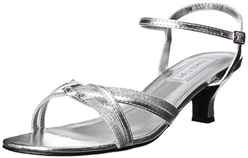 Touch Ups Women's Melanie Dress Sandal, Silver, 8.5 W US