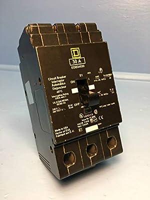 Square D EDB34030 30A Circuit Breaker 3 Pole 480Y/277V EDB-34030 30 Amp 3P HACR