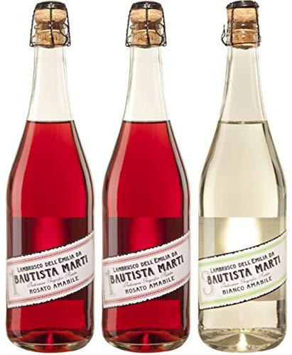 Bautista Martí - Lote de 3 botellas de vino lambrusco (3 x 0.75l)