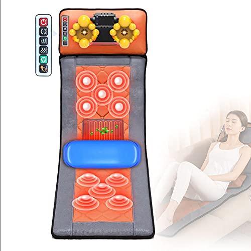 PaNt Tapis de massage avec chaleur 9 Modes Matelas de Massage par Vibration, Tapis Massage électrique Massage du dos Siège Massage avec 20 Têtes de Massage Shiatsu pour Soulager La Douleur Corporelle