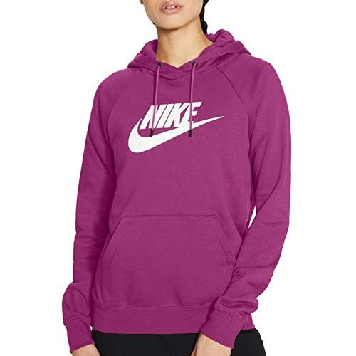 Nike Felpa da Donna con Cappuccio Logo Fuxia Taglia S cod BV4126-564 -9W