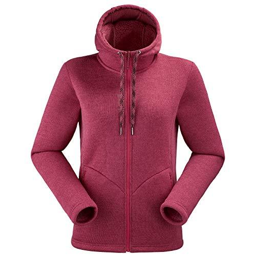 Lafuma LD Cali Damen Fleece-Hoodie, Grau 42 Kirsche