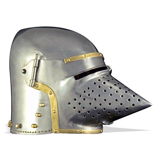 GDFB Hundsgugel um 1390. (L),Mittelalter Helm, Reenactment,Kopfschoner