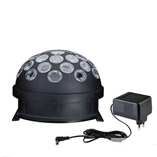 TIP Disco 3297 LED Light Globe Boule 4 W RGB Noir Moteur Multicolore E14