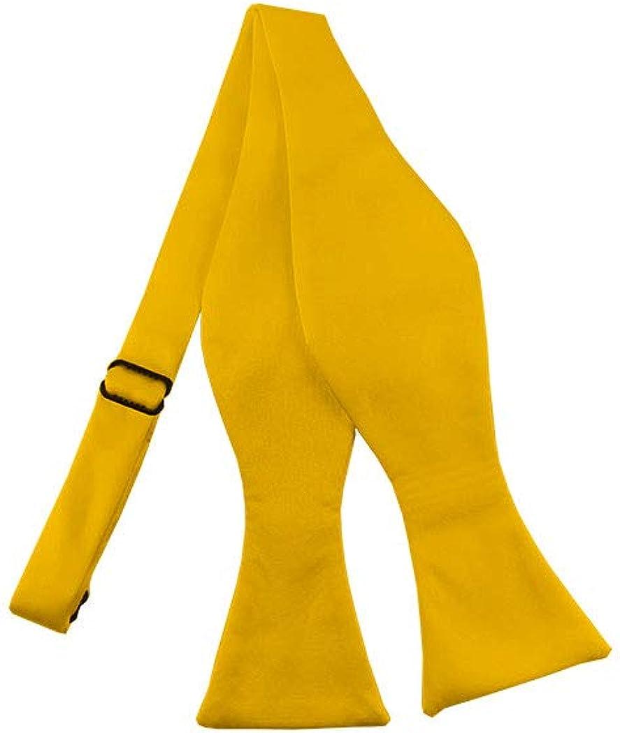 Solid Golden Yellow Self-Tie Bow Tie