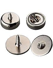 Mutuactor Magnetische bevestiging, 4 stuks, sterke magneet, 13 kg, voor deurgrendels of gereedschapshouder, magneten, neodymium boring met schroeven, sterke magneet voor binnen en buiten, gat tegenunk M5