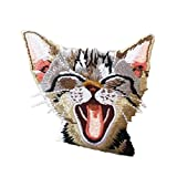 CULER Remiendo del Bolsillo del Gato Animales Parche Bordado Applique de la divisa Hierro Bordado Lindo en la Historieta de Parches para la Ropa Etiqueta