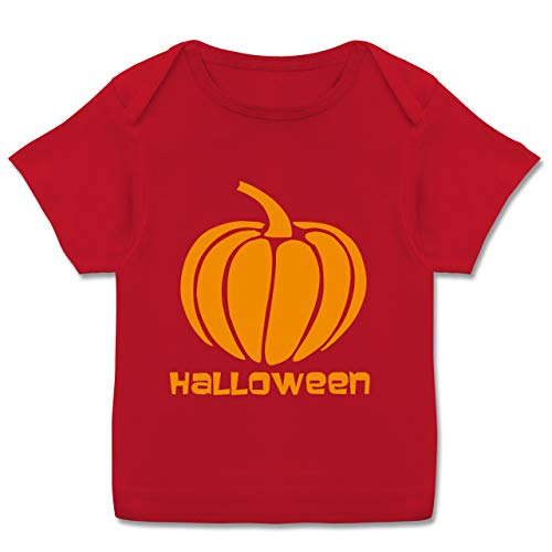 Halloween Baby - Kürbis - 56-62 (2/3 Monate) - Rot - Geschenk - E110B - Kurzarm Baby-Shirt für Jungen und Mädchen